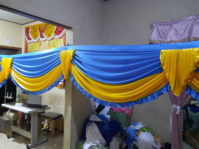 jual rumbai tenda pesta model mayang